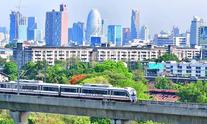 Train Airport Rail Link de l'Aéroport de Suvarnabhumi à Bangkok