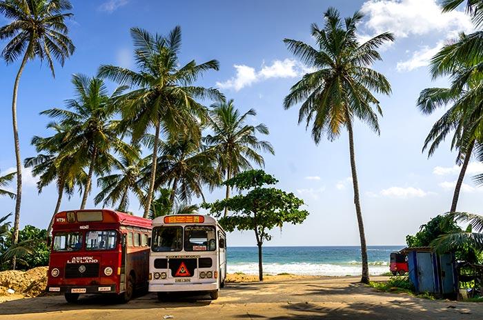 De Colombo à Trincomalee en bus