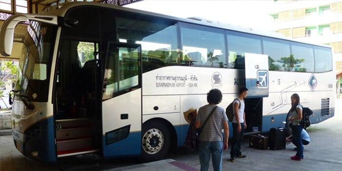 De l'Aéroport de Suvarnabhumi à Hua Hin en bus