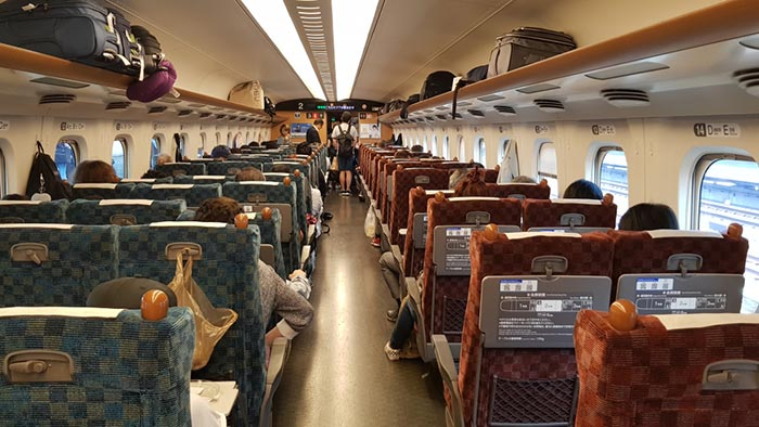 De Osaka à Nagoya en train