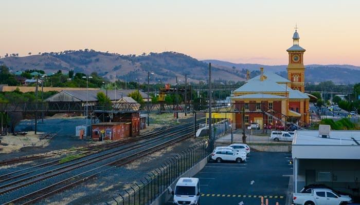 De Albury à Canberra en train