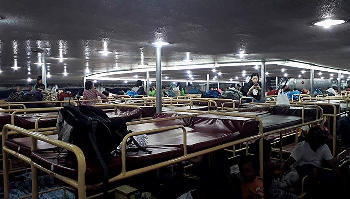 En ferry de Manille à Bacolod