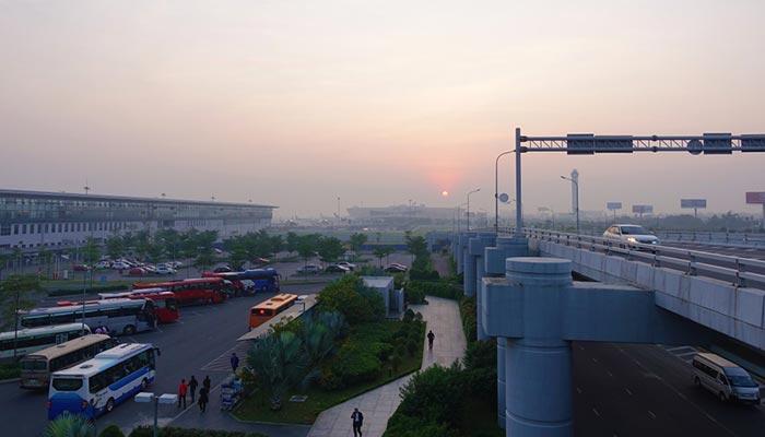 De l'aéroport au centre-ville d'Hanoï